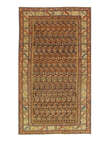 Brown Antique Persian Hamadan Rug