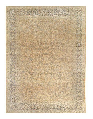 Beige Antique Persian Mashhad Rug