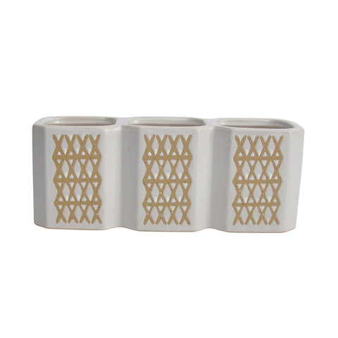3-Cup X-Pen Holder, Beige