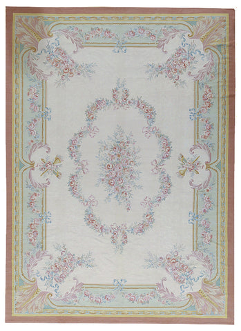 Hand Woven Aubusson New Zealand Wool Area Rug