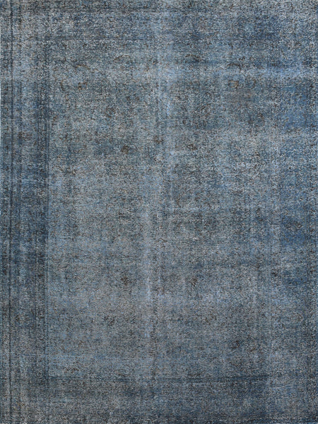 Hand-Knotted Grey Vintage Overdyed Area Rug