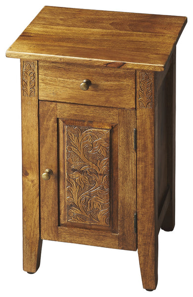 Webster Hand Carved Chairside Chest