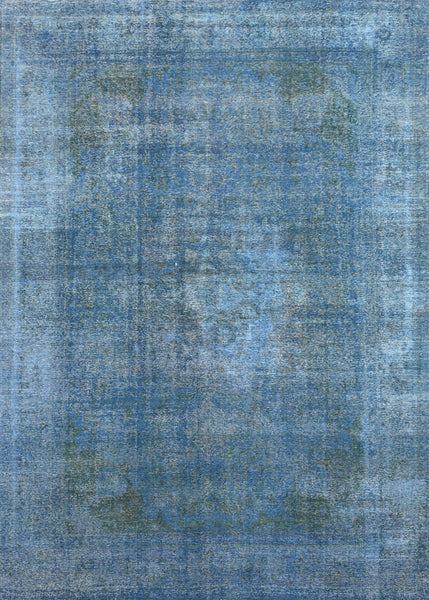 Hand-Knotted Overdyed Vintage Lamb's Wool Rug
