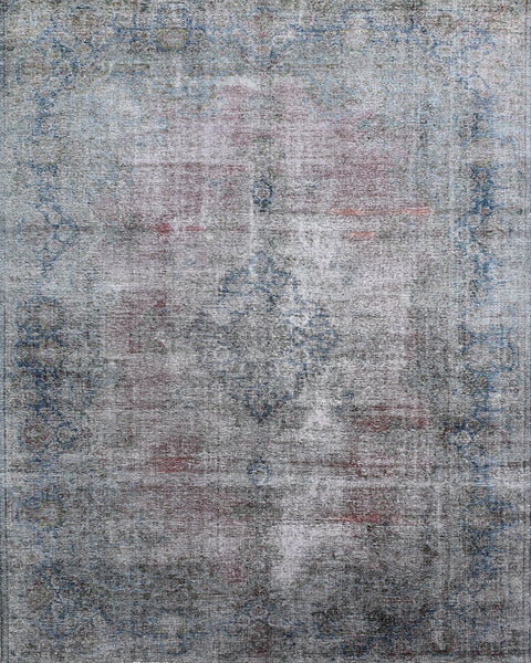 Hand-Knotted Pink Overdyed Vintage Area Rug