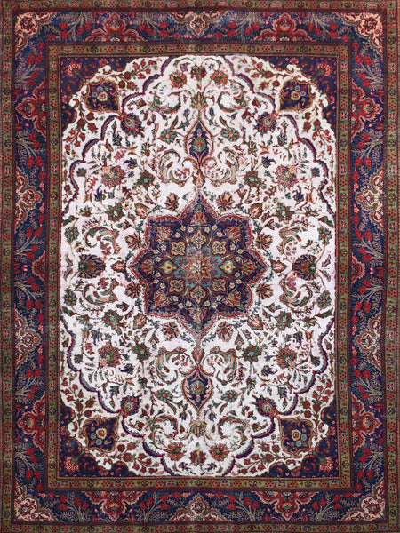 Hand-Knotted Vintage Red Overdyed Area Rug