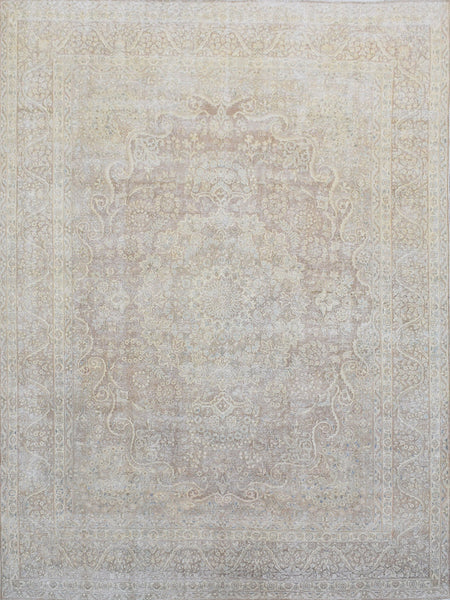 Hand-Knotted Overdyed Brown Wool Area Rug