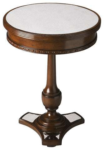 Adele Mirror And Mahogany Accent Table