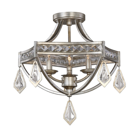 Tamworth Modern 3 Light Semi Flush