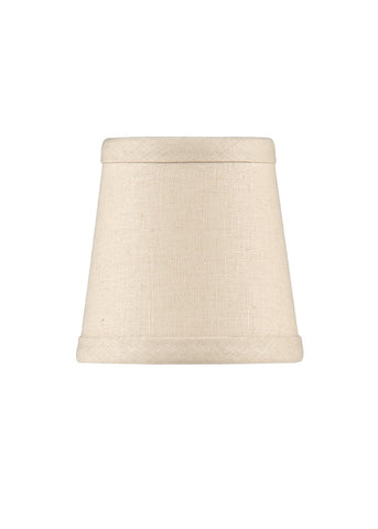Tan Linen Chandelier Shade