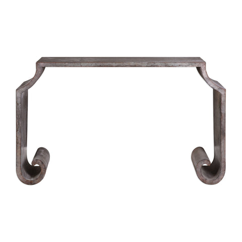Agathon Stone Gray Console Table