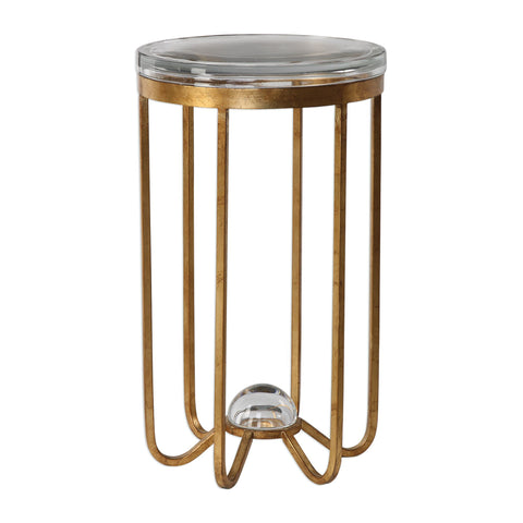 Allura Gold Accent Table