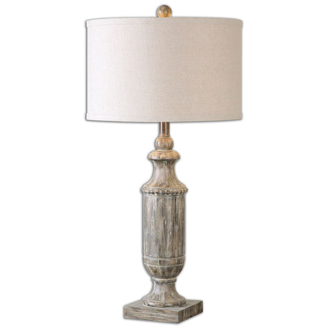 Agliano Aged Dark Pecan Lamp