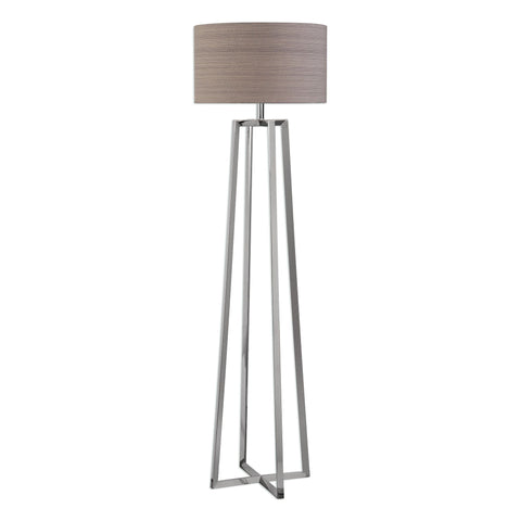 Keokee Polished Nickel Floor Lamp