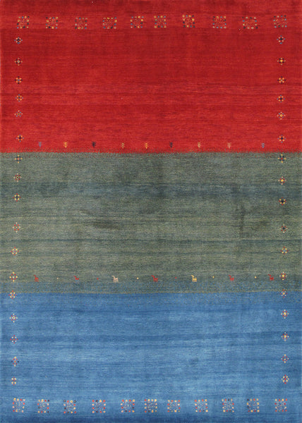 Gabbeh  Hand-Knotted Lamb's Wool Area Rug