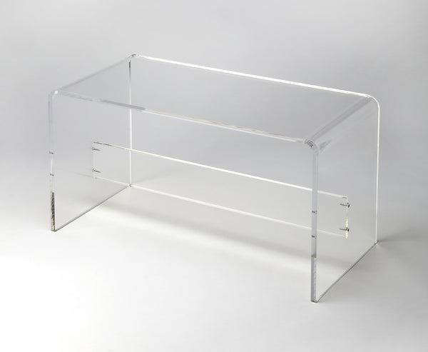 Crystal Clear Acrylic Bench