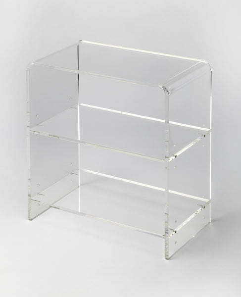 Crystal Clear Acrylic Bookcase
