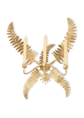 Gold Fern Leaf Sconce