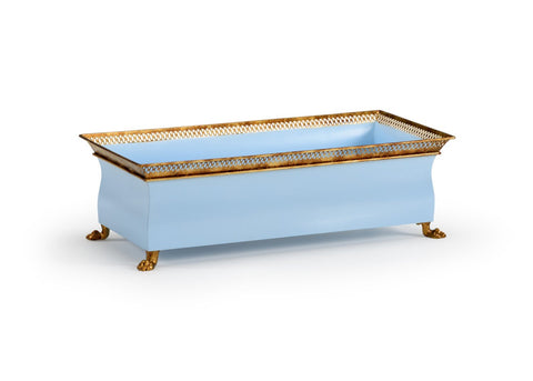 French Tole Planter - Blue