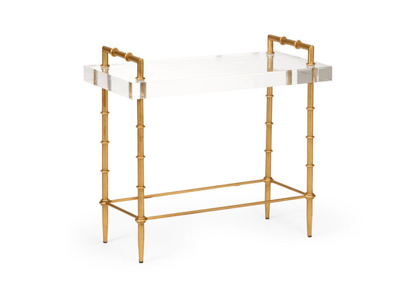 Acrylic Bamboo Side Table