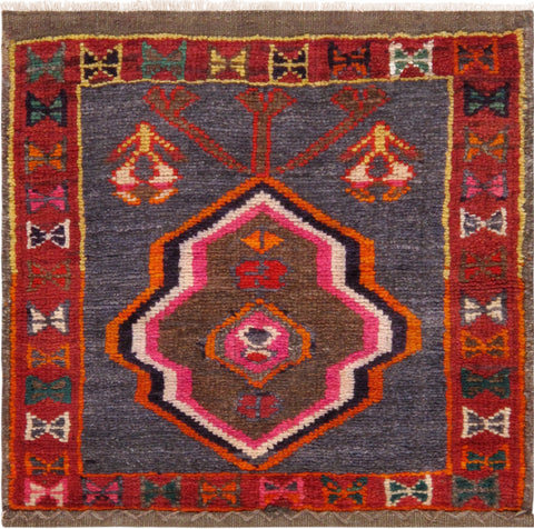 Hand-Knotted Vintage Persian Lori Design Rug