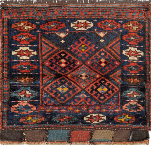 Hand-Knotted Vintage Persian Qashgaie Area Rug