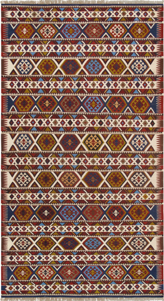 Hand-Knotted Vintage Shirvan Wool Area Rug