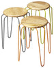 Easton Wood & Iron Stackable Stools