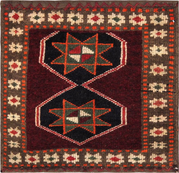 Hand-Knotted Vintage Lori Red/Green Rug