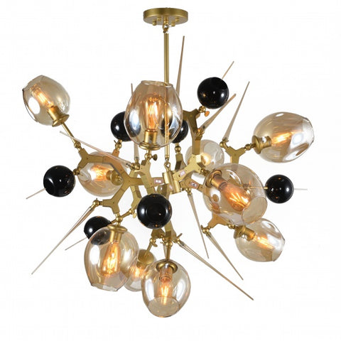 Black Glass Ceiling Fixture