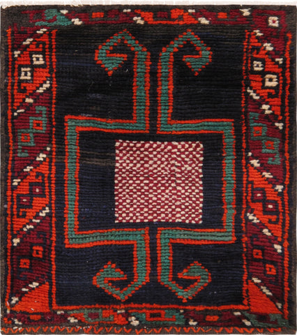 Hand-Knotted Vintage Persian Multi Color Rug