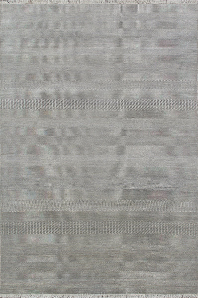Transitiona  Hand-Knotted Vsilk&wool Area Rug