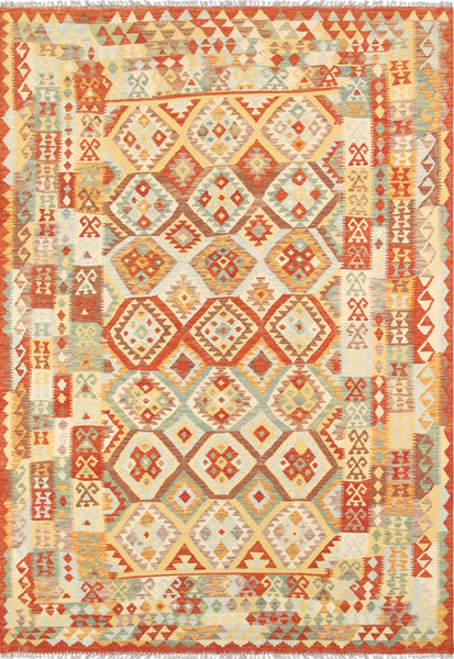Kilim  Hand-Knotted Lamb's Wool Area Rug