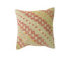 Hand-Woven Vintage Turkish Ivory/Yellow Pillow