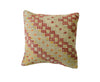 Hand-Woven Turkish Vintage Ivory Kilim Pillow