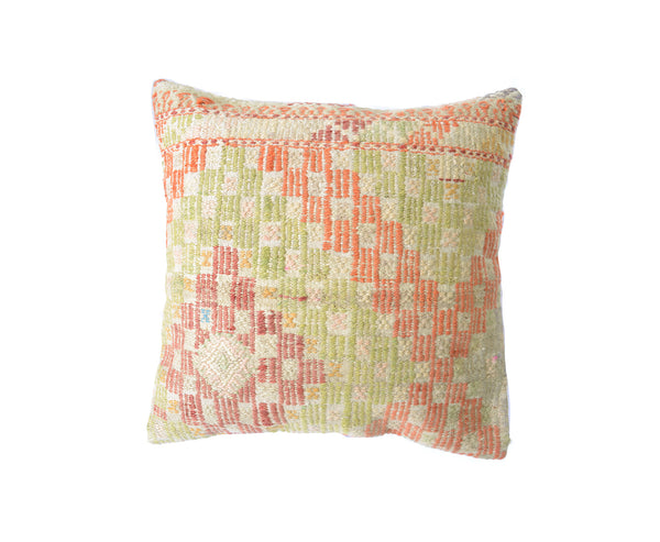 Hand-Woven Turkish Vintage Green Pillow