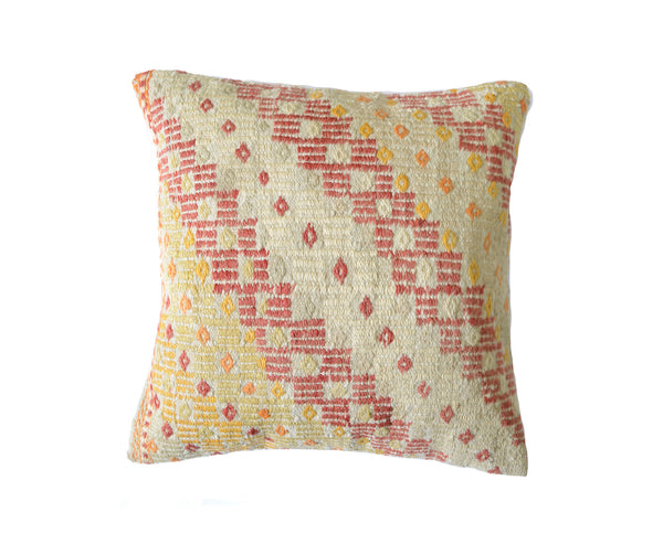 Hand-Woven Turkish Vintage Wool Pillow