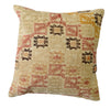 Hand-Woven Vintage Turkish Beige Pillow