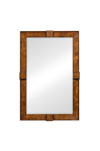 Country Walnut Rectangular Mirror