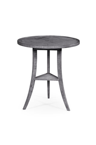 Antique Dark Grey Round Lamp Table