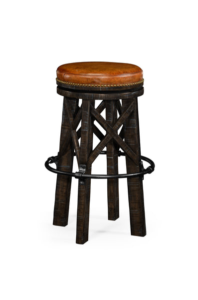 Country Style Dark Ale & Iron Bar Stool