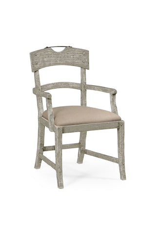 Planked Rustic Grey Armchair