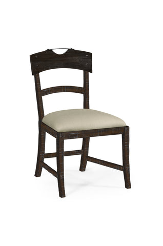Planked Dark Ale Dining Side Chair