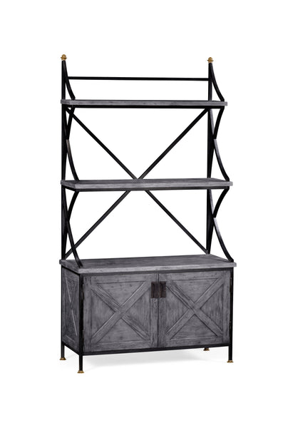 Antique Grey Baker'S Rack Etagere