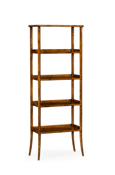 Four-Tier Etagere In Country Walnut