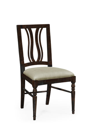Dark Ale Curved Back Dining Side Chair