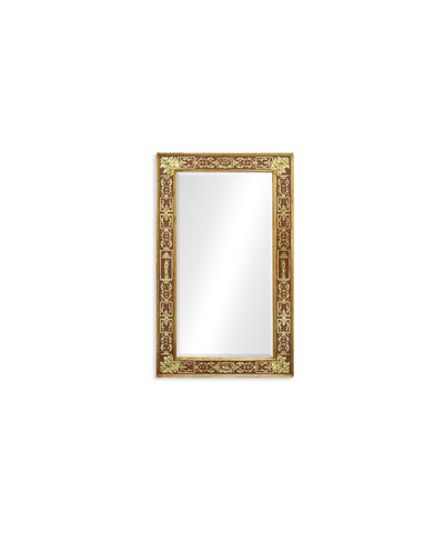 Rectangular Mirror With Gilt Renaissance Decoration (Red)