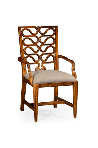 Serpentine Open Back Dining Chair