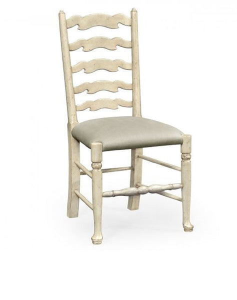 Grey Painted Ladder Back Chair