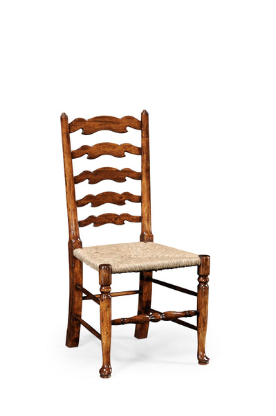 Walnut Country Ladder Back Chair