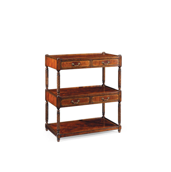 Regency Style Mahogany Three-Tier Etagere Four Drawers